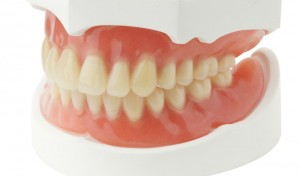 Acrylic dentures look like real teeth and gums.